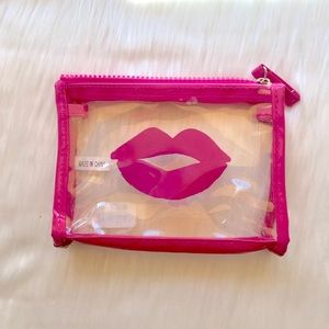 Magenta Lips Clear Cosmetic Bag!